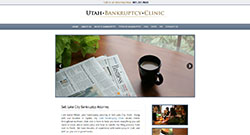 Utah Bankruptcy Clinic website